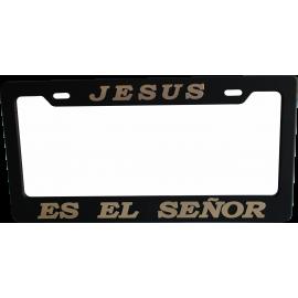 Porta placa Jesús es el Señor dorado