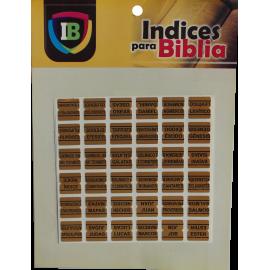 Indice para Biblia dorado