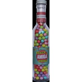 Botella con dulces  Hermana