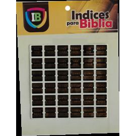Indice para Biblia negro
