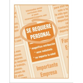 Se requiere personal